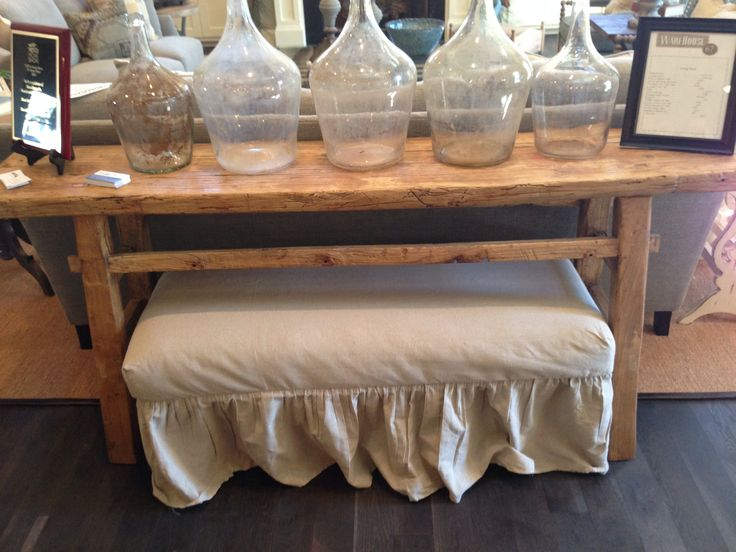 Behind couch table barn wood pinterest drawers for Table behind couch
