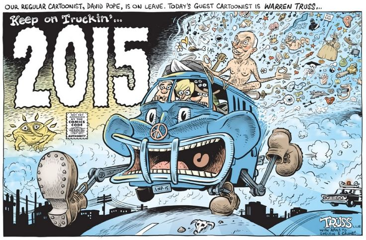 2015 ABB0TT & CO aka THE IDIOTS BRIGADE Cartoon by DAVID POPE.