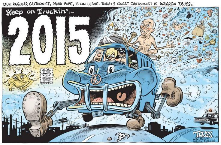 2015 ABB0TT & CO aka THE IDIOTS BRIGADE Cartoon by DAVID POPE.