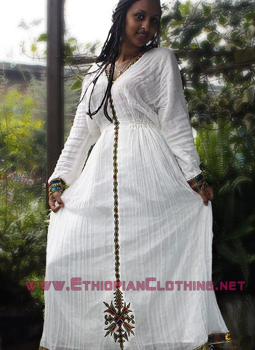 Cultural ethiopian dressethiopian clothing eritrean for Habesha dress for wedding