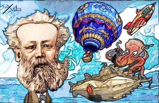 los libros de Julio Verne, uno de los escritores de ciencia ficción más importantes en la historia, han inspirado a gran cantidad de científicos  como a  Konstantin Tsiolkovsky visionario de cohetes a propulsión, al inventor del primer submarino Simon Lake, a los creadores de las velas solares, etc. http://www.revista.unam.mx/vol.8/num9/art68/sep_art68.pdf
