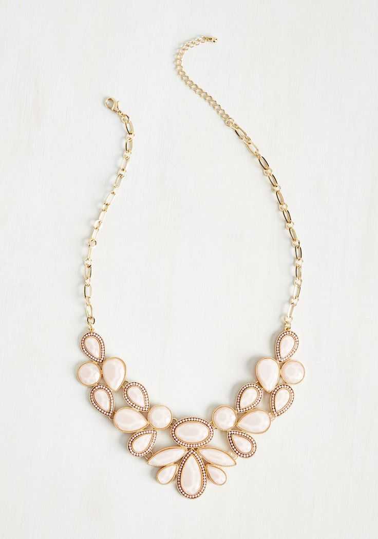 Shine-Tuned Necklace in Blush - Pink, Special Occasion, Party, Cocktail, Girls Night Out, Bridesmaid, Bride, Statement, Pastel, Spring, Summer, Better, Solid