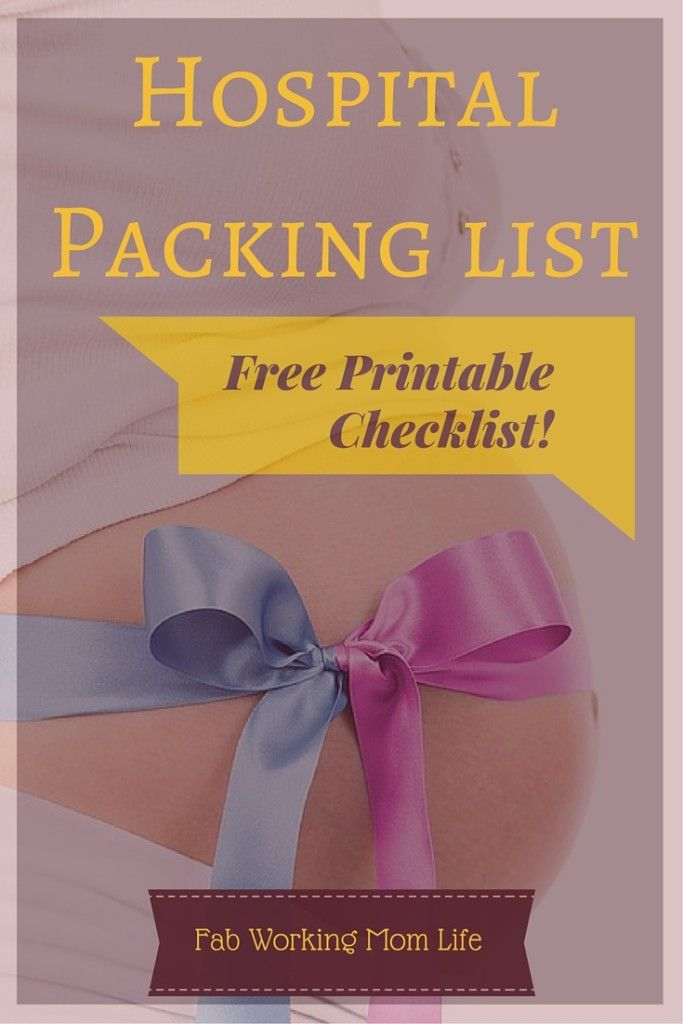 Labor and Delivery Hospital Packing List. Double tap for your free printable!