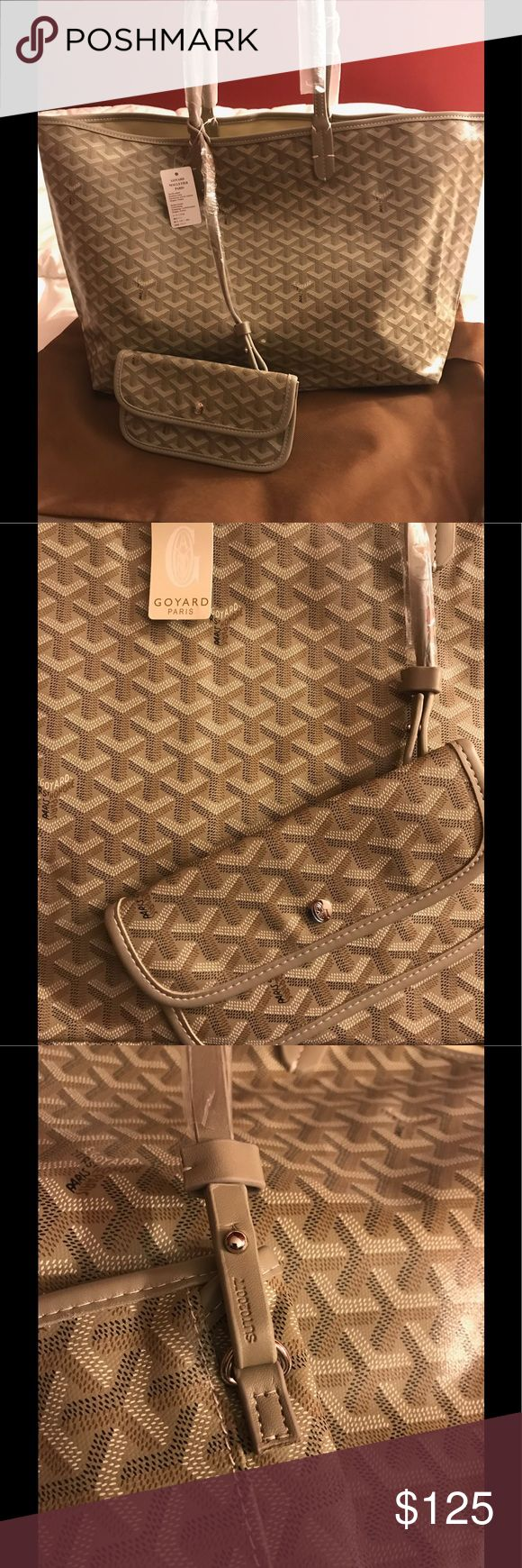 Goyard GM TOTE beautiful read description Very high quality genuine leather reason for price this is NOT authentic COLOR KHAKI Bags Shoulder Bags