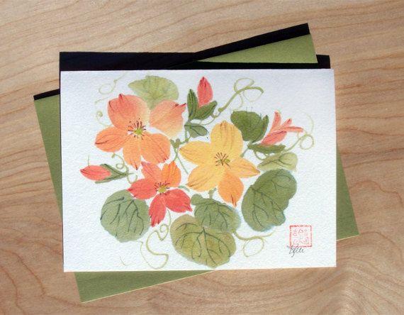 Original Chinese Brush Sumi-e Watercolor by KelliMcNicholsArt