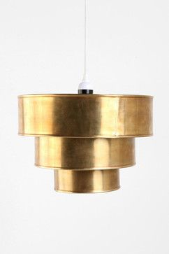 Brass Tiered Pendant - eclectic - pendant lighting - Urban Outfitters