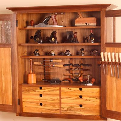 Simple To Make Tool Holders For A Cabinet Fine Woodworking Article