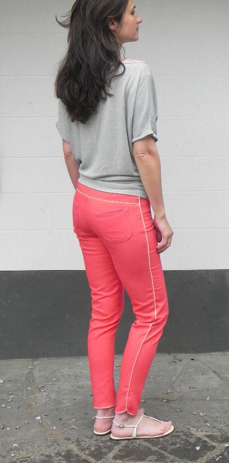 Kepa - le pantalon slim patron téléchargeable de Blousette rose