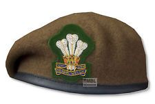 Royal Welsh Officers and Warrant Officers Beret and badge.