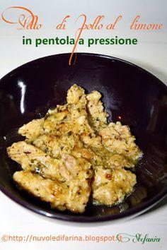 Petto di pollo al limone in pentola a pressione