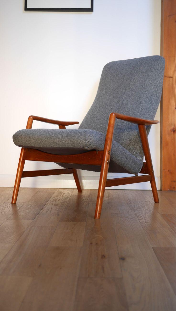 Fritz Hansen 'Kontour' Reclining Armchair c.1957