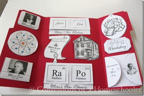 Marie Curie Unit Study Lapbook