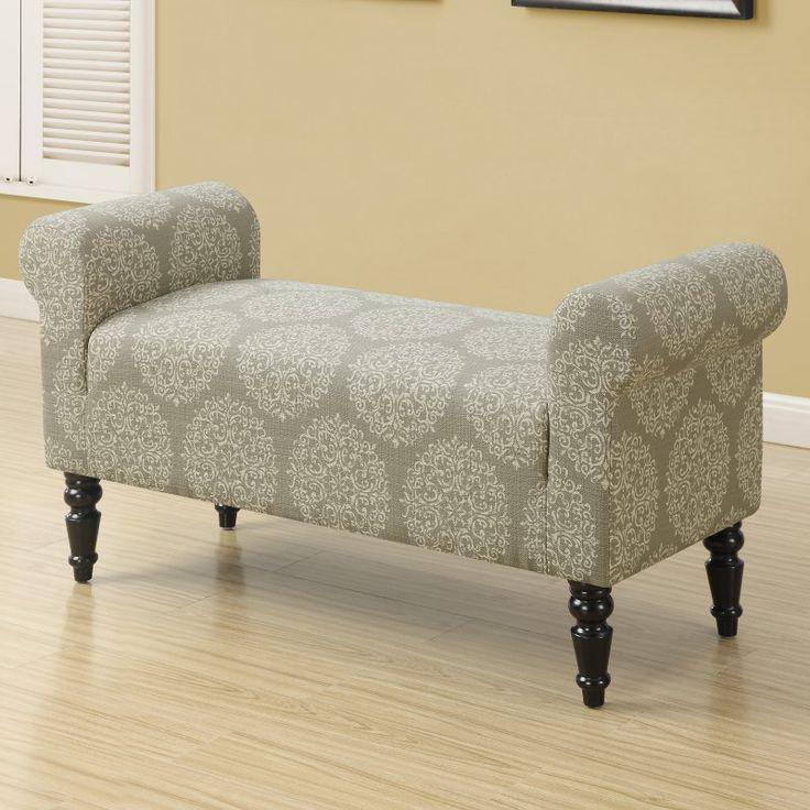 Monarch Specialties Amery Fabric Indoor Bench - I 8916
