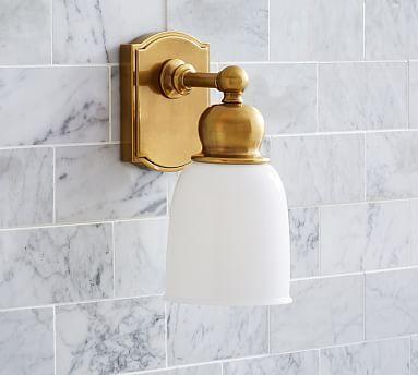 Covington Hotel Single Sconce, Set Of Brass Finish