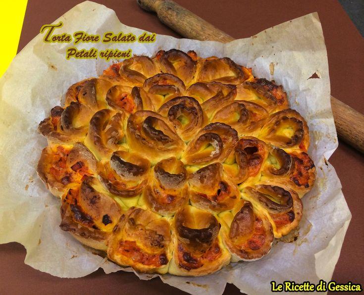 Torta Salata dai Petali Ripieni - Ricetta Bimby