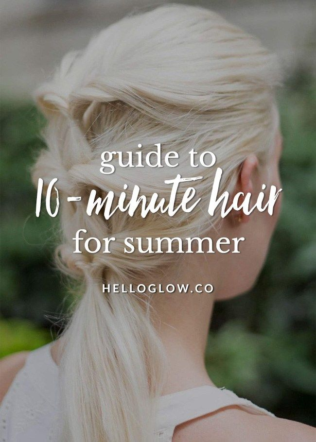 10 Go-To Easy Summer Hairstyles http://helloglow.co/summer-hairstyles/