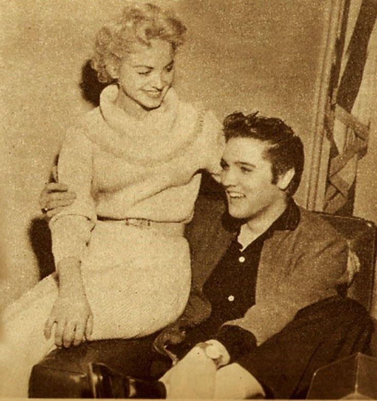 December 1956  - Memphis - Elvis and Dottie Harmony, a showgirl he had dated in Las Vegas,