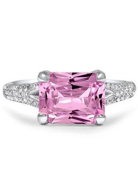 Brilliant Earth Radiant Cut Pink Sapphire Ring