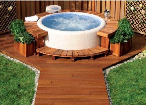 Best Whirlpool Garten Rasen Holz Boden