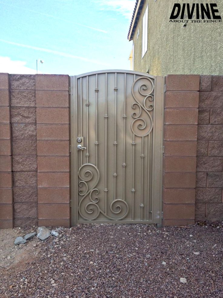 Custom Iron Gate Designed And Installed By Divine Fence In