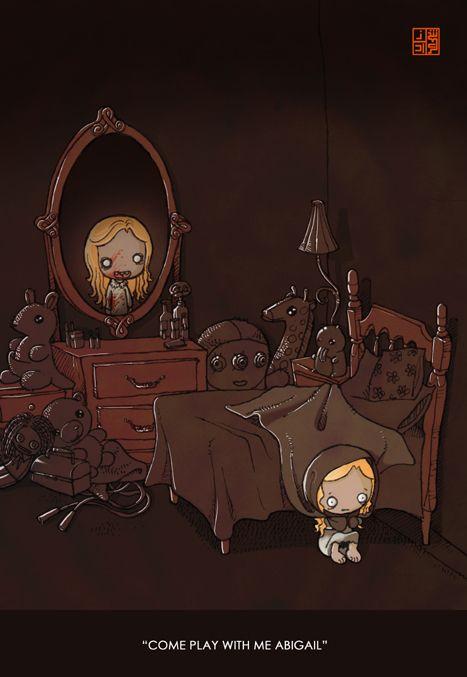 VERY morbid but I'm drawn to it :) Strange and creepy by Sheharzad Arshad, via Behance