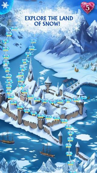 "Free Frozen Game App called ""Frozen Free Fall"" for iPhone and iPad 