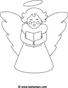 Christmas Angel Coloring Page Holiday Choir Singing And Holding Carols Song Book