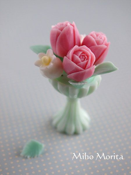 Vase and flowers of soap carving sabun pinterest