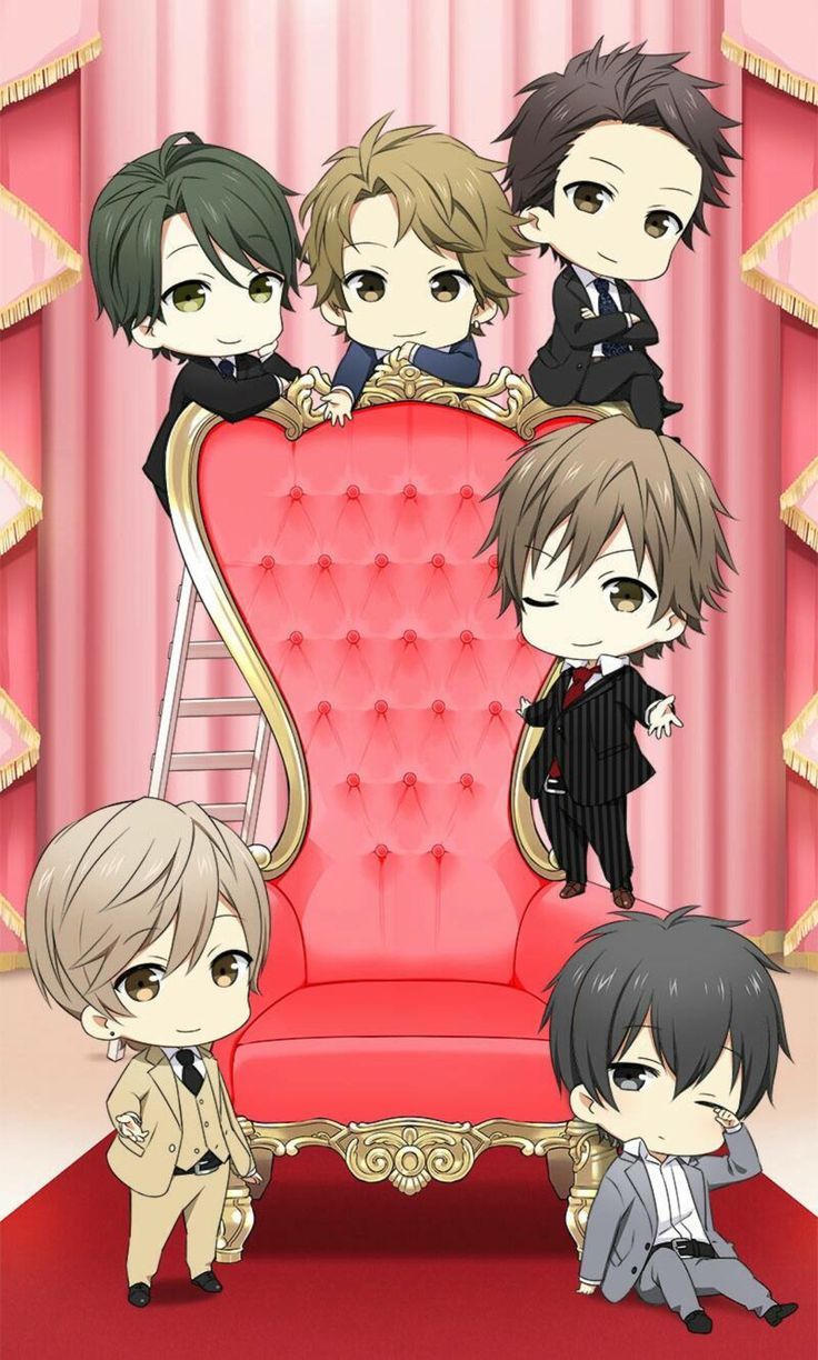 """aikawamidori77: """" Other cute chibi CG I got that from my friend in group I want to cuddle Kaoru there  """""""