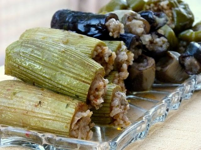 Ägyptische Gefüllte Zucchini und Auberginen Maaschi Mashi Maashi Kussa Kusa Betingen
