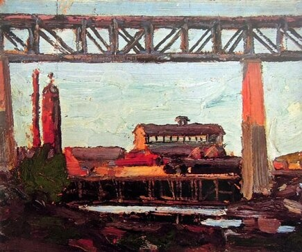 Trestle at Parry Sound  @TTLastSpring (Tom Thomson)