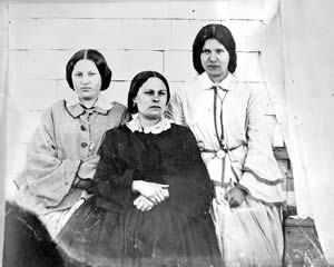 Three of James and Amelia's daughters