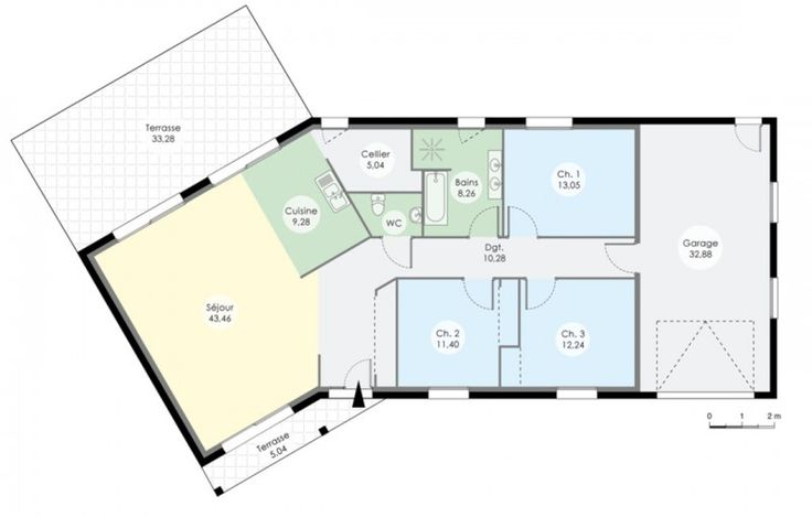 Plan De Maison 4 Chambres En U   Recherche Google