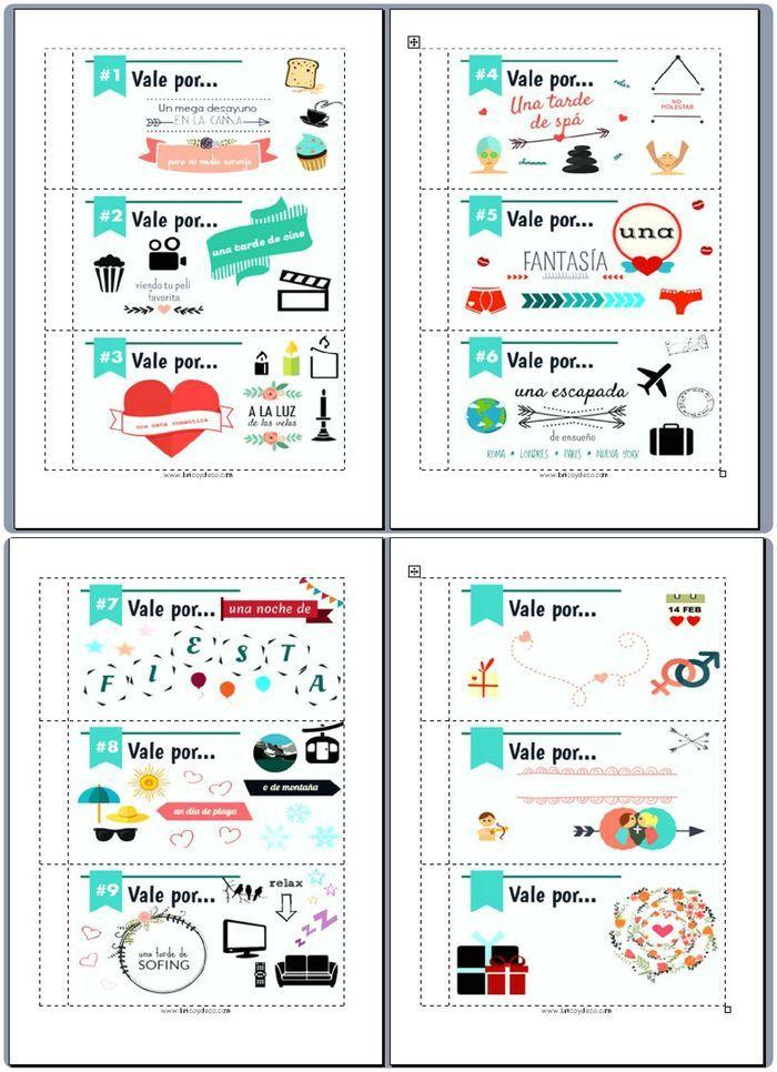 Talonario de San Valentín para imprimir en www.bricoydeco.com