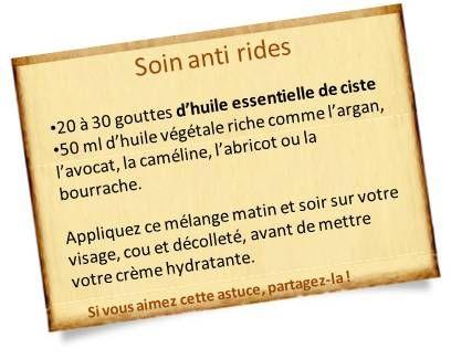 huile essentielle ciste anti ride