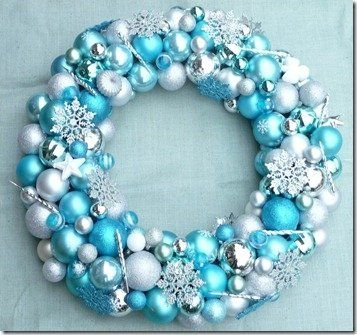 Tiffany Blue Turquoise and Silver Wreath---this is my color scheme for my christmas decor in my home :)