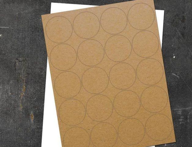 Etiketten - Selbstklebende Etiketten, Packpapier, rund, 51 mm - ein Designerstück von stempelfiliale bei DaWanda