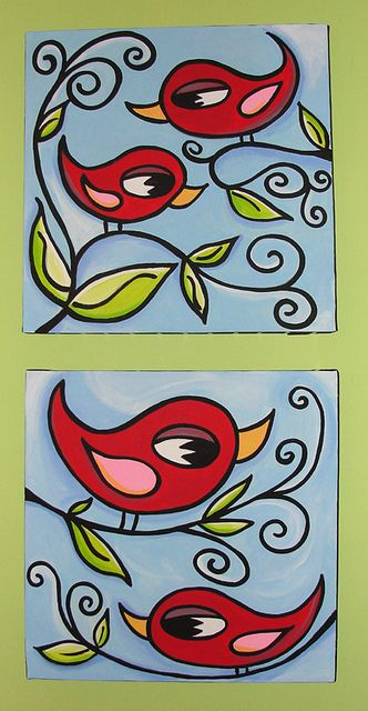 whimsical art | couple new whimsical paintings! | Flickr - Photo Sharing!