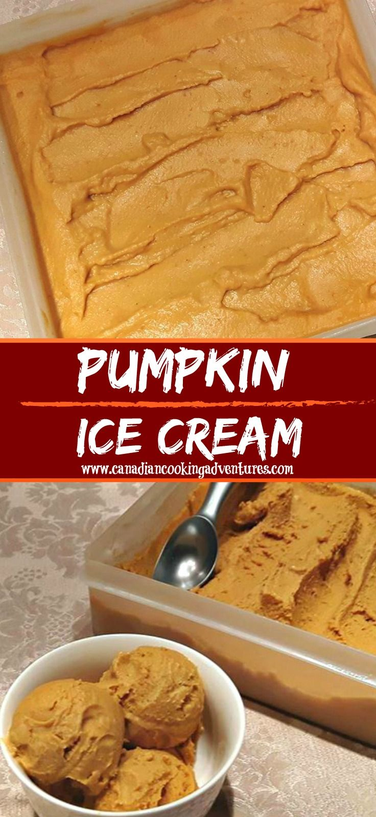 Do you like Pumpkin Pie? Well I do, so much so that I can eat a whole pie to myself. And when you add vanilla ice cream to it then it's even more AMAZING, don't you agree? I grew up eating Pumpkin pie, it was always served as the main dessert around Thanksgiving, Christmas, or Halloween...#icecream #IceCream #thanksgiving #christmas #recipe #recipes #recipesforcakes