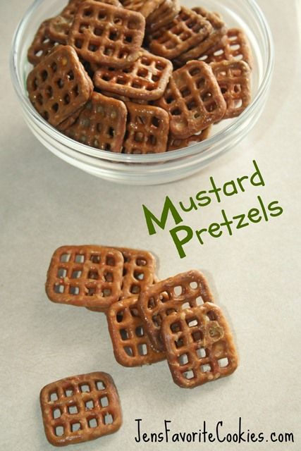 Mustard Pretzels, great snack for game day or movie parties