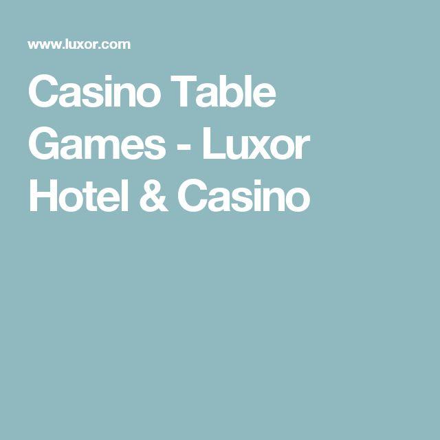 Casino Table Games - Luxor Hotel & Casino