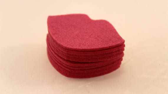 Felt Lips for craft and embellishment 25 pieces perfect shape