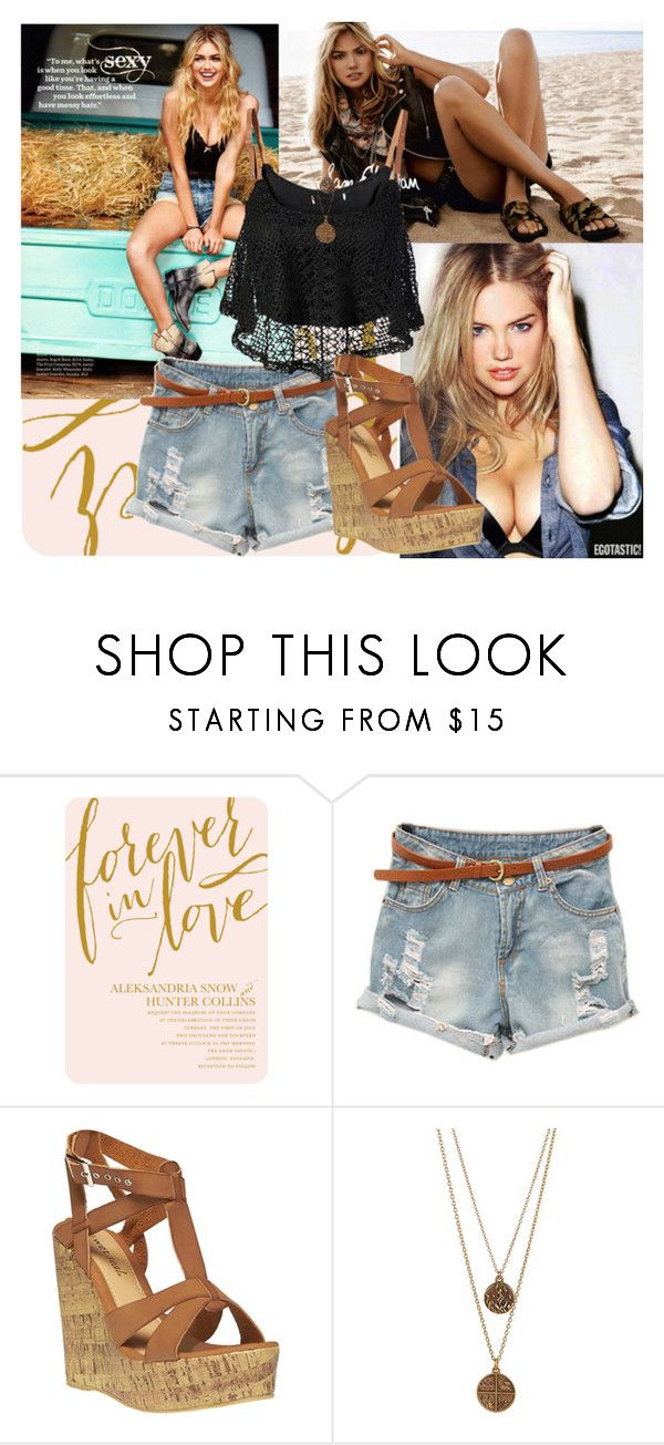"""""""Kate Upton"""" by juliamedvedeva ❤ liked on Polyvore featuring Sam Edelman, By eLUXE, Wet Seal and Bee Charming"""