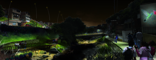 Esbozo de un Plan Maestro de Iluminación para la ciudad de Medellín y el Valle de Aburrá, Colombia,© Pascal Chautard