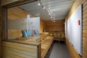 The Sauna meeting room is a technology free space.