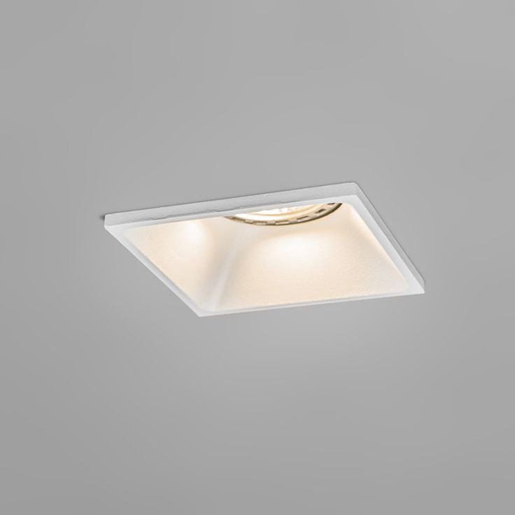 Recessed Spotlight Piazza Square White