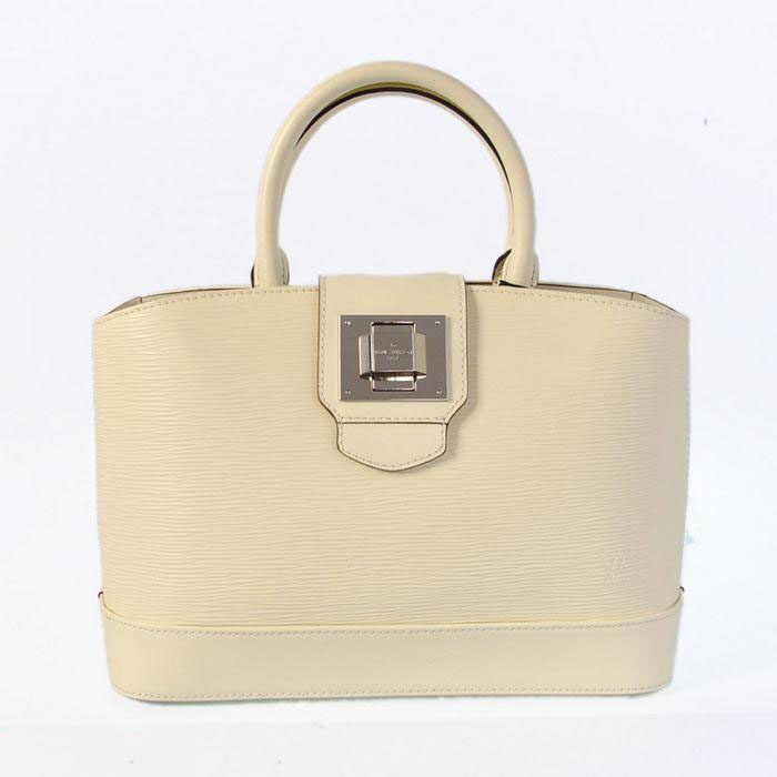 Louis Vuitton Mirabeu PM Handbag  The mirabeau PM in Epi leather is truly irresistible beautiful detailing like an embossed  Louis Vuiiton signature at the front of the bag and shiny silver pieces make it instantly  eye-catching  Add a touch of pure glamour with the Mirabeau PM. Its glos...