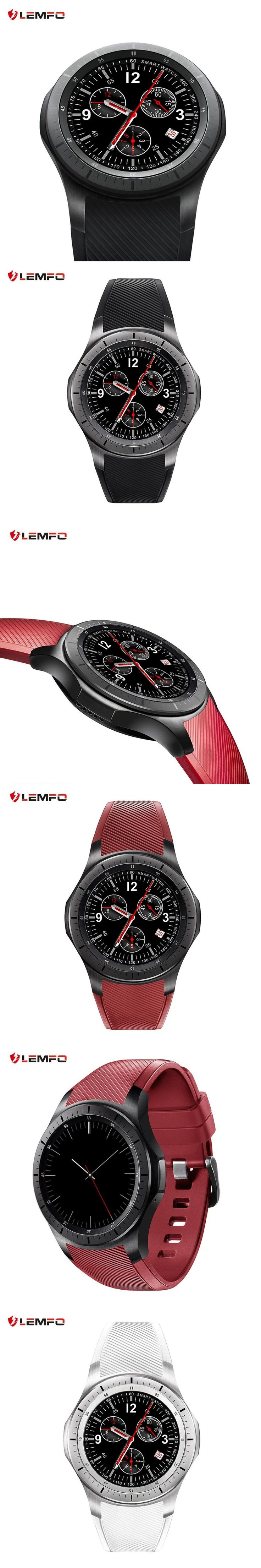 Original LEMFO LF16 Android 5.1 Smart Watch 1.39 inch OLED Screen MTK6580 512MB+8GB Bluetooth Watch Heart Rate Reloj Inteligente
