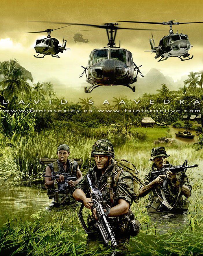Men of War Vietnam, alternate cover by flipation Vietnam
