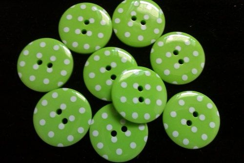 10 pcs Cute Retro Style Buttons 25mm Green by CustomizeSouvenir, $3.50